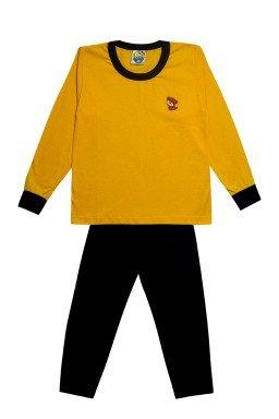 1 pijama amarelo com marinho conjunto