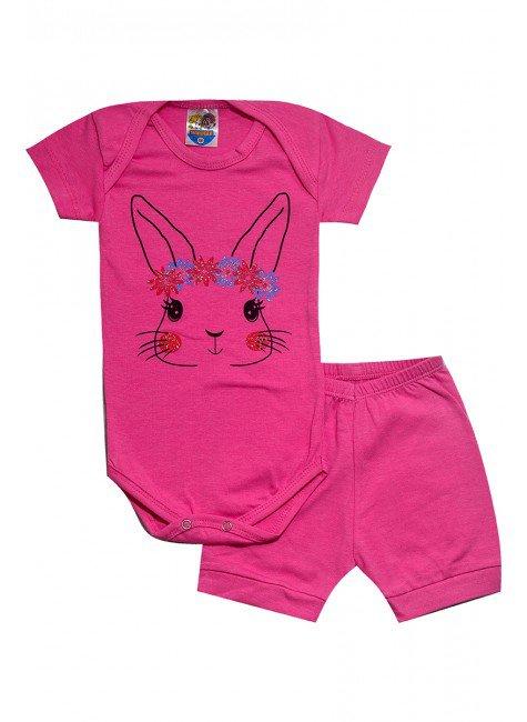 462 body coelho rosa escuro