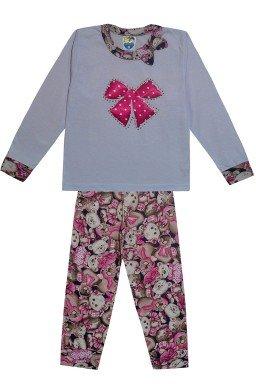 328 conjunto pijama calca de urso