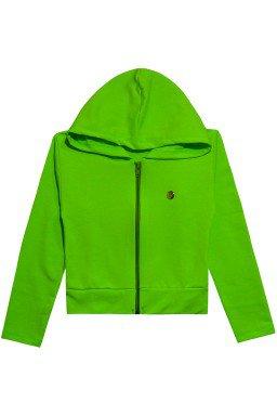 537 casaco moletom verde neon