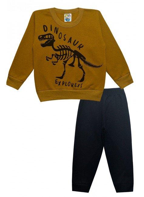 0004 conjunto dinossauro mostarda