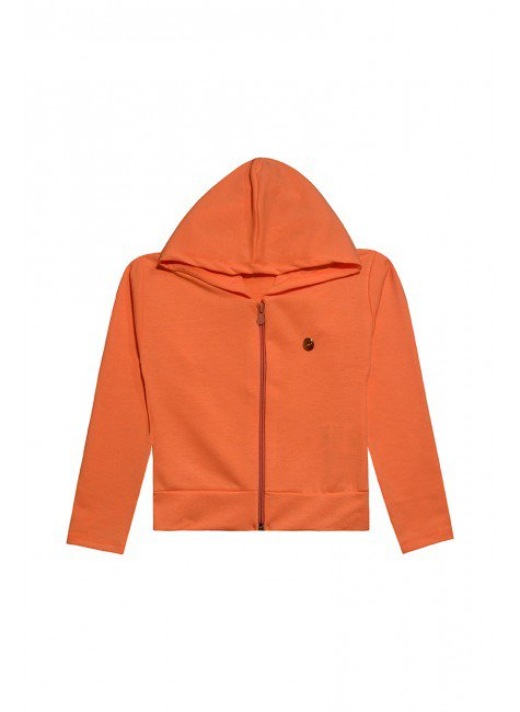 535 casaco moletom laranja neon