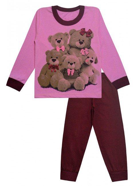 297 conjunto rosa urso
