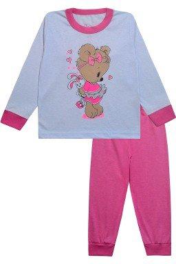 0050 conjunto rosa ursinho