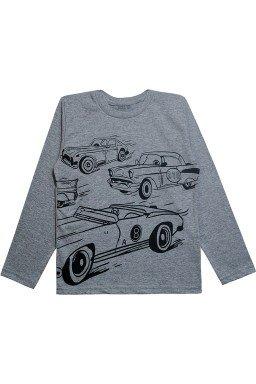 0063 camisa cinza mescla carros