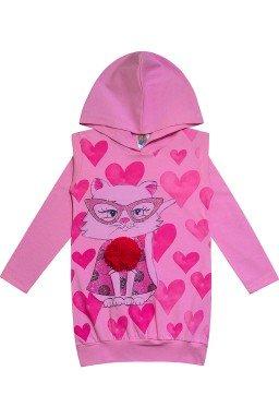 0253 rosa blusa sob leggin gatinho