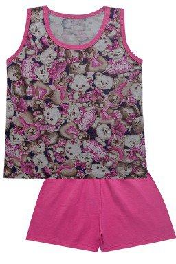 0409 conj pijama urso rosa