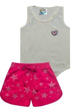 conjunto body alvejado pink