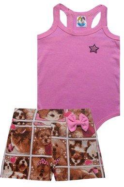 conjunto rosa claro