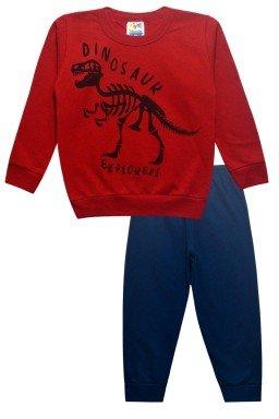 0427 calca marinho dinossauro vermelho