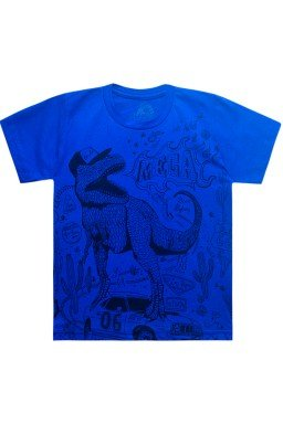 camiseta dinossauro azul bic