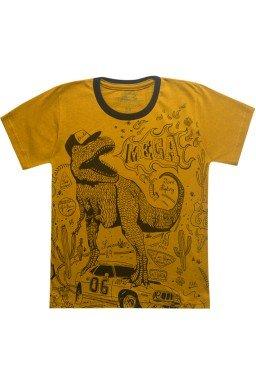 camiseta dinossauro caramelo