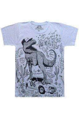 camiseta dinossauro branca