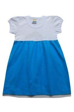 ref 6284 vestido de manga tule azul
